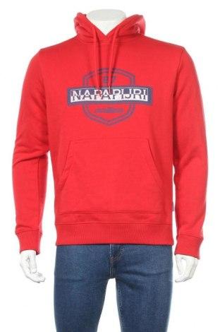 Мъжки суичър Napapijri, Размер L, Цвят Червен, 90% памук, 10% полиестер, Цена 94,64лв.