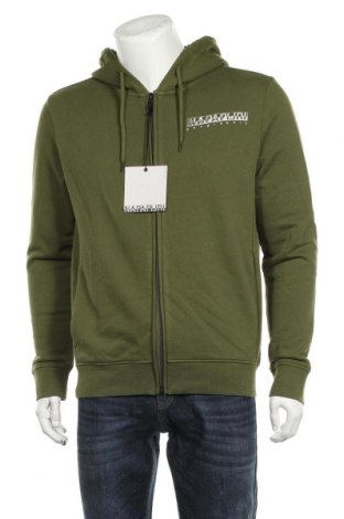 Мъжки суичър Napapijri, Размер L, Цвят Зелен, 90% памук, 10% полиестер, Цена 126,75лв.