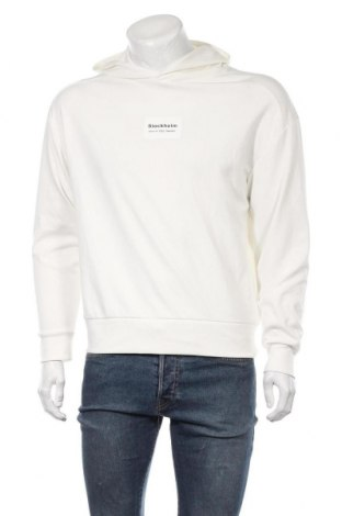Ανδρικό φούτερ Zara, Μέγεθος S, Χρώμα Λευκό, 98% βαμβάκι, 2% ελαστάνη, Τιμή 26,68€