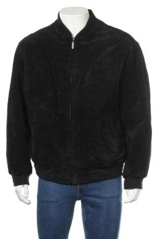 Ανδρικό δερμάτινο μπουφάν, Μέγεθος L, Χρώμα Μαύρο, Φυσικό σουέτ, Τιμή 25,66€