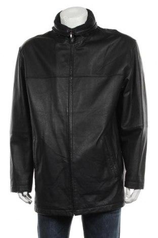 Мъжко кожено яке Angelo Litrico, Размер XL, Цвят Черен, Естествена кожа, Цена 66,36лв.
