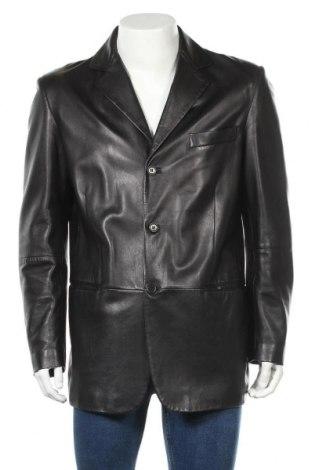 Ανδρικό δερμάτινο μπουφάν Cerruti 1881, Μέγεθος L, Χρώμα Μαύρο, Γνήσιο δέρμα, Τιμή 206,91€