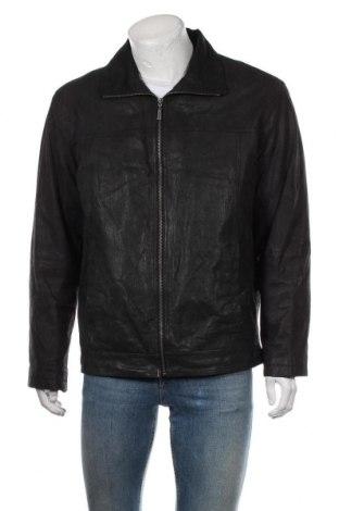 Мъжко кожено яке Mauro Ferrini, Размер L, Цвят Черен, Естествена кожа, Цена 66,15лв.