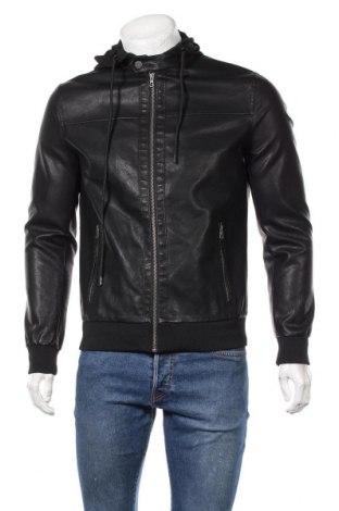 Мъжко кожено яке Only & Sons, Размер S, Цвят Черен, Еко кожа, Цена 74,25лв.