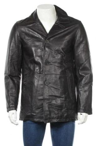 Ανδρικό δερμάτινο μπουφάν Strellson, Μέγεθος M, Χρώμα Μαύρο, Γνήσιο δέρμα, Τιμή 74,04€
