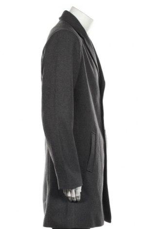 Мъжко палто, Размер L, Цвят Сив, 52% полиестер, 48% полиестер, Цена 62,89лв.