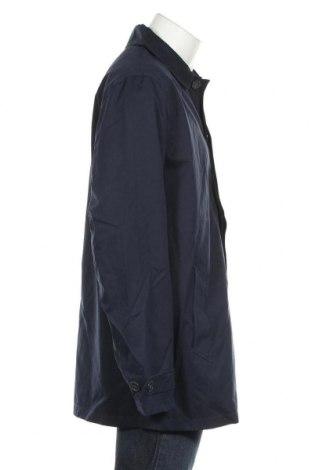 Мъжко палто, Размер XXL, Цвят Син, 52% полиестер, 38% памук, 10% полиамид, Цена 37,04лв.