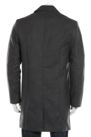 Мъжко палто, Размер M, Цвят Сив, 52% полиакрил, 48% полиестер, Цена 62,89лв.
