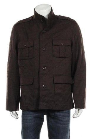 Мъжко палто Alfani, Размер L, Цвят Кафяв, 56% вълна, 31% полиестер, 8% вискоза, 5% други тъкани, Цена 82,22лв.