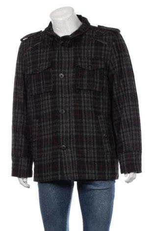 Мъжко палто Angelo Litrico, Размер L, Цвят Сив, 50% полиестер, 50% вълна, Цена 12,86лв.