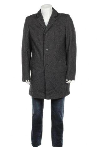 Мъжко палто Angelo Litrico, Размер L, Цвят Сив, 50% акрил, 20% полиестер, 30% вълна, Цена 12,34лв.