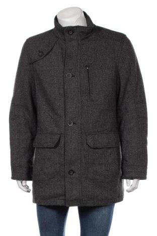 Мъжко палто Angelo Litrico, Размер L, Цвят Сив, 80% вълна, 20% полиамид, Цена 32,34лв.