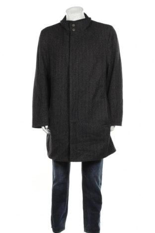Мъжко палто Bugatti, Размер XL, Цвят Черен, 55% вълна, 20% полиамид, 20% полиестер, 5% други тъкани, Цена 36,23лв.