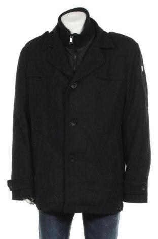 Мъжко палто Angelo Litrico, Размер XXL, Цвят Черен, 60% вълна, 40% полиестер, Цена 38,22лв.