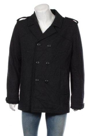 Мъжко палто Clockhouse, Размер XL, Цвят Сив, 60% вълна, 35% полиестер, 5% други тъкани, Цена 15,23лв.