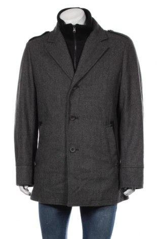 Ανδρικά παλτό DNR, Μέγεθος XL, Χρώμα Γκρί, 50% μαλλί, 40% πολυεστέρας, 10% βισκόζη, Τιμή 24,58€