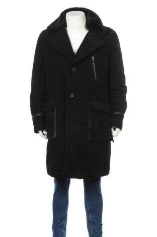 Мъжко палто H&M, Размер XL, Цвят Черен, Памук, Цена 43,68лв.