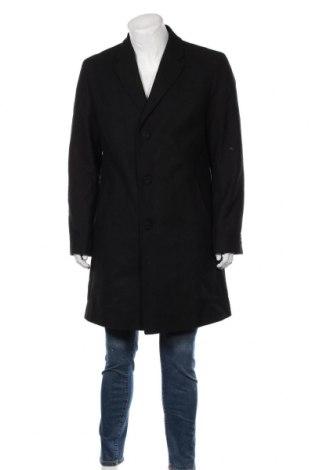 Мъжко палто Hugo Boss, Размер L, Цвят Черен, 70% вълна, 20% полиестер, 10% полиамид, Цена 516,75лв.