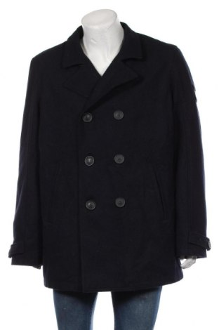 Мъжко палто Jean Pascale, Размер XXL, Цвят Син, 80% полиестер, 20% вълна, Цена 30,98лв.