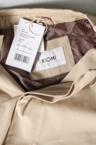 Мъжко палто Kiomi, Размер L, Цвят Бежов, Памук, Цена 46,92лв.
