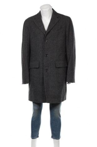 Мъжко палто Made In Italy, Размер XL, Цвят Сив, Вълна, Цена 18,90лв.