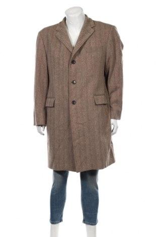 Мъжко палто ONLY, Размер L, Цвят Кафяв, 80% вълна, 20% полиамид, Цена 36,96лв.