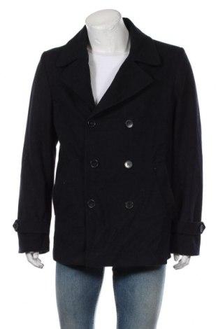Мъжко палто Royal Class, Размер L, Цвят Син, 50% полиестер, 40% вълна, 10% други тъкани, Цена 14,70лв.