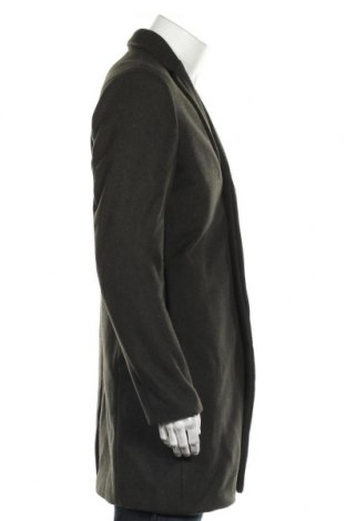 Мъжко палто Selected Homme, Размер L, Цвят Зелен, 62% вълна, 33% полиестер, 5% други нишки, Цена 89,64лв.