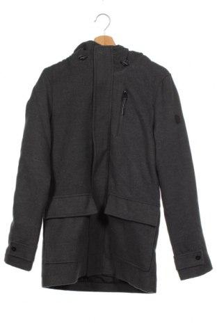 Мъжко палто Tiffosi, Размер S, Цвят Сив, 93% полиестер, 5% вискоза, 2% еластан, Цена 64,00лв.