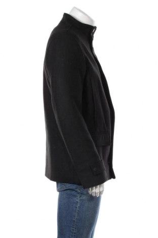 Мъжко палто Tom Tailor, Размер M, Цвят Черен, 61% полиестер, 17% вискоза, 11% вълна, 4% полиамид, 4% полиакрил, 3% памук, Цена 164,25лв.