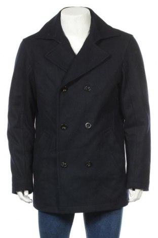 Мъжко палто Yorn, Размер L, Цвят Син, 70% вълна, 30% полиестер, Цена 60,48лв.