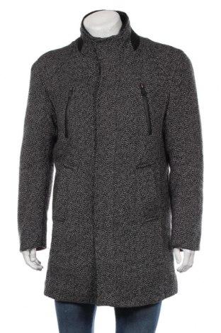 Мъжко палто Zara Man, Размер XL, Цвят Сив, 35% вълна, 33% акрил, 16% полиестер, 10% полиамид, 6% други тъкани, Цена 93,45лв.