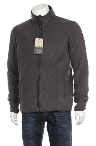 Ανδρική ζακέτα fleece Napapijri, Μέγεθος L, Χρώμα Γκρί, Πολυεστέρας, Τιμή 65,33€