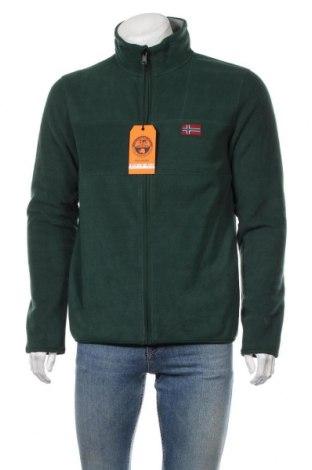 Ανδρική ζακέτα fleece Napapijri, Μέγεθος L, Χρώμα Πράσινο, Πολυεστέρας, Τιμή 65,33€