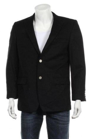 Мъжко сако, Размер M, Цвят Черен, 75% вълна, 25% кашмир, Цена 9,24лв.