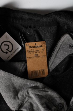 Мъжко сако Desigual, Размер L, Цвят Черен, 80% полиестер, 20% вълна, Цена 128,57лв.