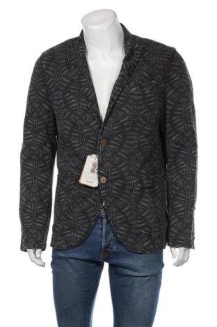Мъжко сако Desigual, Размер L, Цвят Сив, 52% лен, 48% памук, Цена 111,37лв.