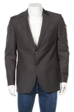 Ανδρικό σακάκι Hugo Boss, Μέγεθος L, Χρώμα Γκρί, Μαλλί, Τιμή 51,96€