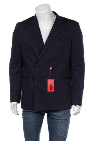 Мъжко сако Hugo Boss, Размер L, Цвят Син, 96% памук, 4% еластан, Цена 291,75лв.