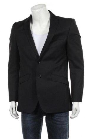 Мъжко сако Marks & Spencer Autograph, Размер M, Цвят Черен, 70% вълна, 30% полиестер, Цена 23,40лв.