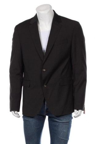 Мъжко сако Tommy Hilfiger, Размер XL, Цвят Черен, 54% полиестер, 44% вълна, 2% еластан, Цена 209,25лв.