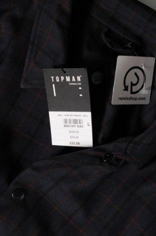 Мъжко сако Topman, Размер L, Цвят Син, 65% полиестер, 35% вискоза, Цена 41,70лв.
