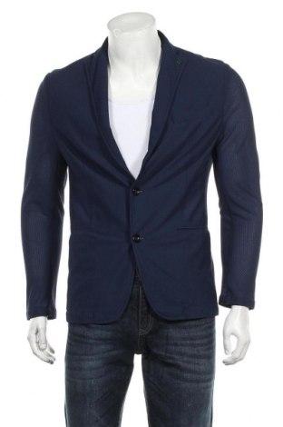 Мъжко сако Zara Man, Размер S, Цвят Син, Цена 51,45лв.