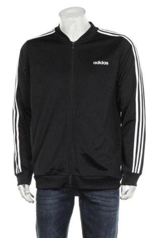 Ανδρική αθλητική ζακέτα Adidas, Μέγεθος L, Χρώμα Μαύρο, Πολυεστέρας, Τιμή 38,27€