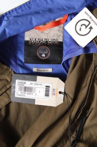 Мъжко спортно яке Napapijri, Размер L, Цвят Зелен, 50% памук, 50% полиестер, Цена 91,60лв.