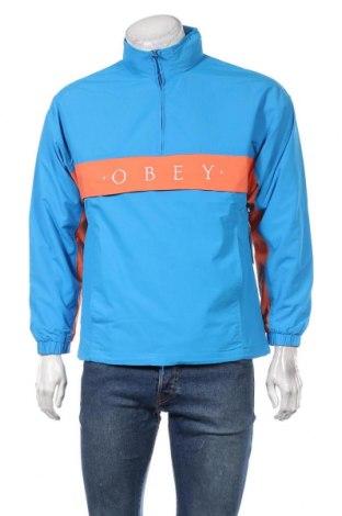 Мъжко спортно яке Obey, Размер S, Цвят Син, Полиамид, Цена 149,25лв.