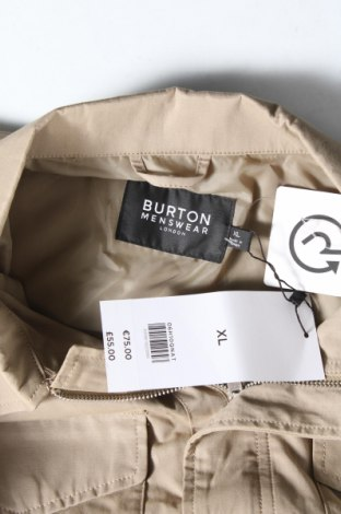 Мъжко яке Burton of London, Размер XL, Цвят Бежов, 62% памук, 38% полиестер, Цена 37,41лв.