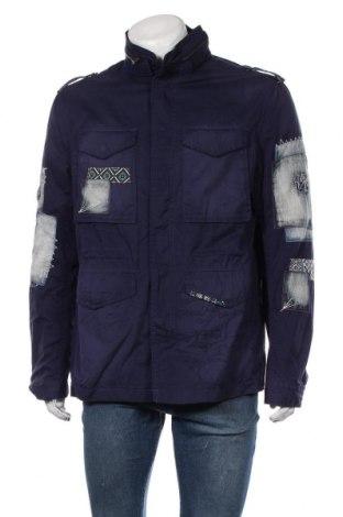 Ανδρικό μπουφάν Desigual, Μέγεθος XL, Χρώμα Μπλέ, Βαμβάκι, Τιμή 148,97€
