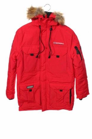 Мъжко яке Geographical Norway, Размер S, Цвят Червен, Полиестер, Цена 239,25лв.