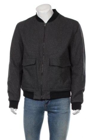Мъжко яке H&M, Размер XL, Цвят Сив, 55% вълна, 39% полиестер, 3% акрил, 1% вискоза, Цена 32,76лв.